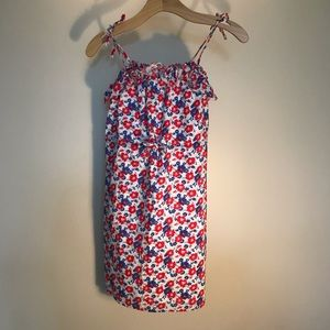 👗Girls size 12 Chaps blue red white floral dress